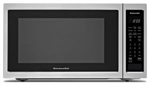 stainless steel 21 3 4 countertop convection microwave oven 1000 rh kitchenaid ca